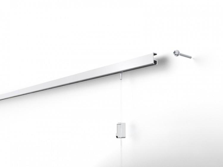 Stas Minirail White Aluminium Picture Hanging System